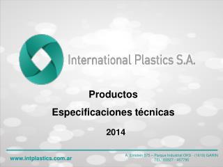 Productos  Especificaciones técnicas