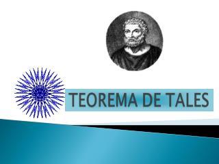 EL TEOREMA DE TALES EN UN TRIÁNGULO