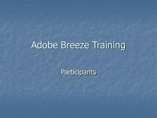 Adobe Breeze Training