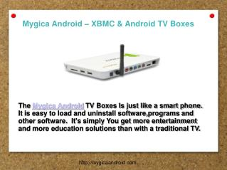 Mygica Android TV Boxes with XBMC