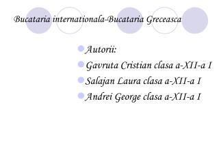 Bucataria internationala-Bucataria Greceasca