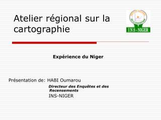 Atelier régional sur la cartographie