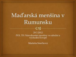 Maďarská menšina v Rumunsku