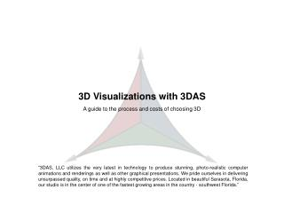 Sample 3D Visualization Marketing Presentation with pricing