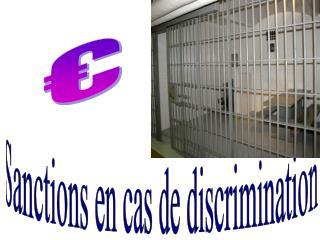 Sanctions en cas de discrimination