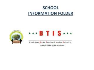 SCHOOL  INFORMATION FOLDER