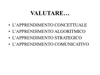 VALUTARE�