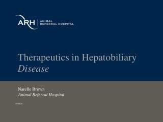 Therapeutics in Hepatobiliary