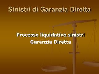 Sinistri di Garanzia Diretta