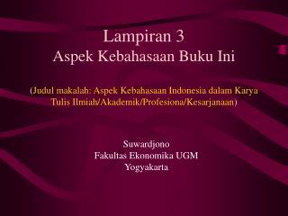 Suwardjono Fakultas Ekonomika UGM Yogyakarta