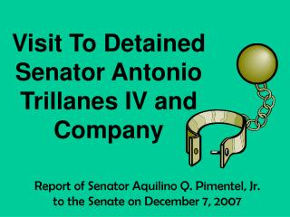 Report of Senator Aquilino Q. Pimentel, Jr.     to the Senate on December 7, 2007