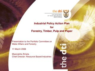 Industrial Policy Action Plan  for Forestry, Timber, Pulp and Paper
