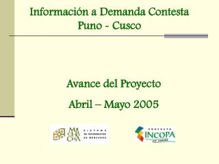 Información a Demanda Contesta Puno - Cusco