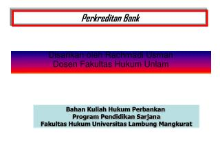 Perkreditan Bank
