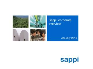 Sappi: corporate overview