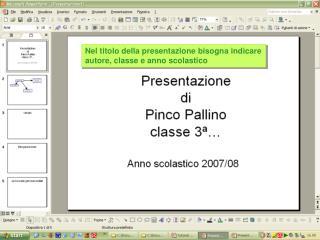 Nel titolo della presentazione bisogna indicare autore, classe e anno scolastico