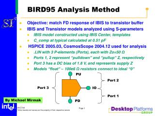 BIRD95 Analysis Method
