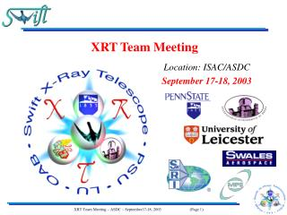 XRT Team Meeting