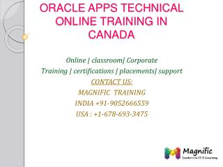 oracle apps technical online training in Bangalore
