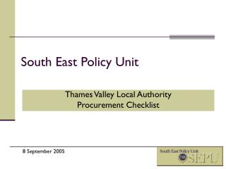 South East Policy Unit