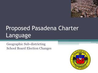 Proposed Pasadena Charter Language