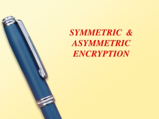 Conventional Cryptography Symmetric Ciphers