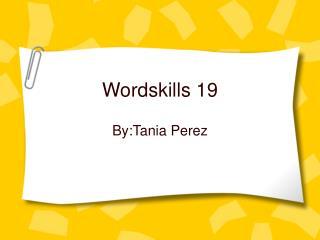 Wordskills 19