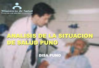 ANALISIS DE LA SITUACION DE SALUD PUNO