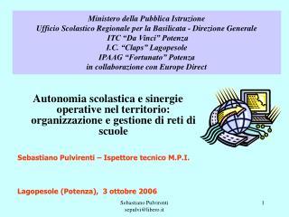 Lagopesole (Potenza),  3 ottobre 2006