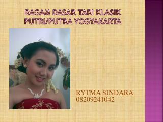 Ragam dasar tari klasik putri / putra yogyakarta