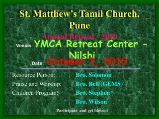St. Matthew's Tamil Church, Pune