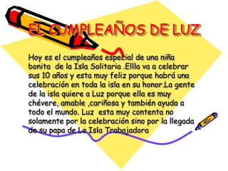 EL CUMPLEAÑOS DE LUZ