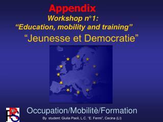 """""""Jeunesse et Democratie"""""""