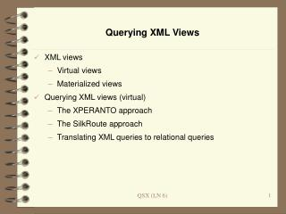 Querying XML Views