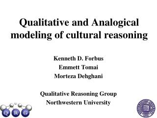 Qualitative and Analogical modeling of cultural reasoning