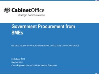 Government Procurement from SMEs