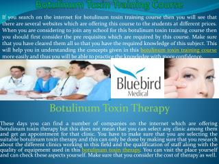 Botulinum toxin therapy treatment training course & injectio