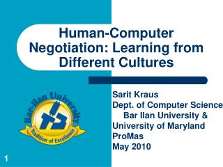 Human-Computer Negotiation: Learning from Different Cultures