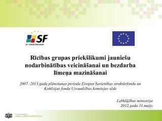Rīcības grupas priekšlikumi jauniešu nodarbinātības veicināšanai un bezdarba līmeņa mazināšanai
