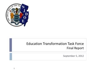 Education Transformation Task Force Final Report