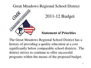 Great Meadows Regional School District