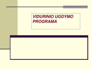 Vidurinio ugdymo programos arašas