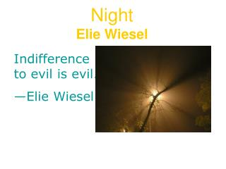 Night Elie Wiesel