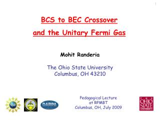 BCS to BEC Crossover  and the Unitary Fermi Gas
