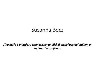 Susanna Bocz