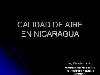 CALIDAD DE AIRE  EN NICARAGUA
