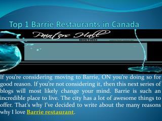 Top 1 Barrie Restaurants in Ontario, Canada
