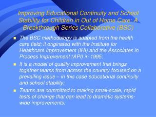 BSC on Education Pomona Unified School District &  DCFS Pomona
