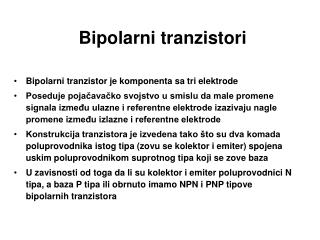 Bipolarni tra nzistori