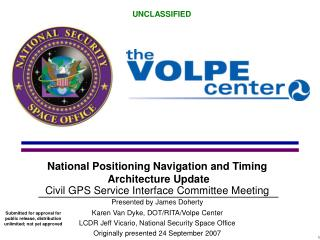 National Positioning Navigation and Timing  Architecture Update